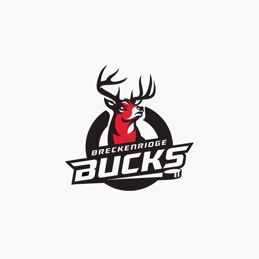 Breckenridge Bucks sports logo design