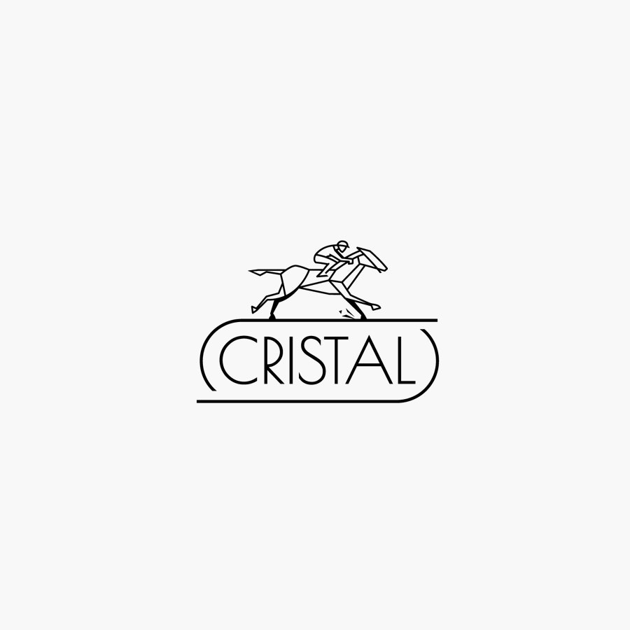 Cristal Horse Racetrack logo design