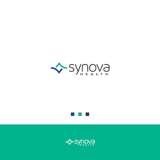 7ed4c7ba6dc Logo Dish uses a blue and green palette to represent the serious and mature  nature of Synova, a medical and biological research company.