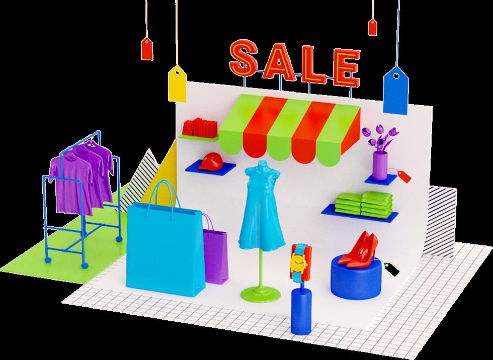 Retail illustration by Pinch Studio