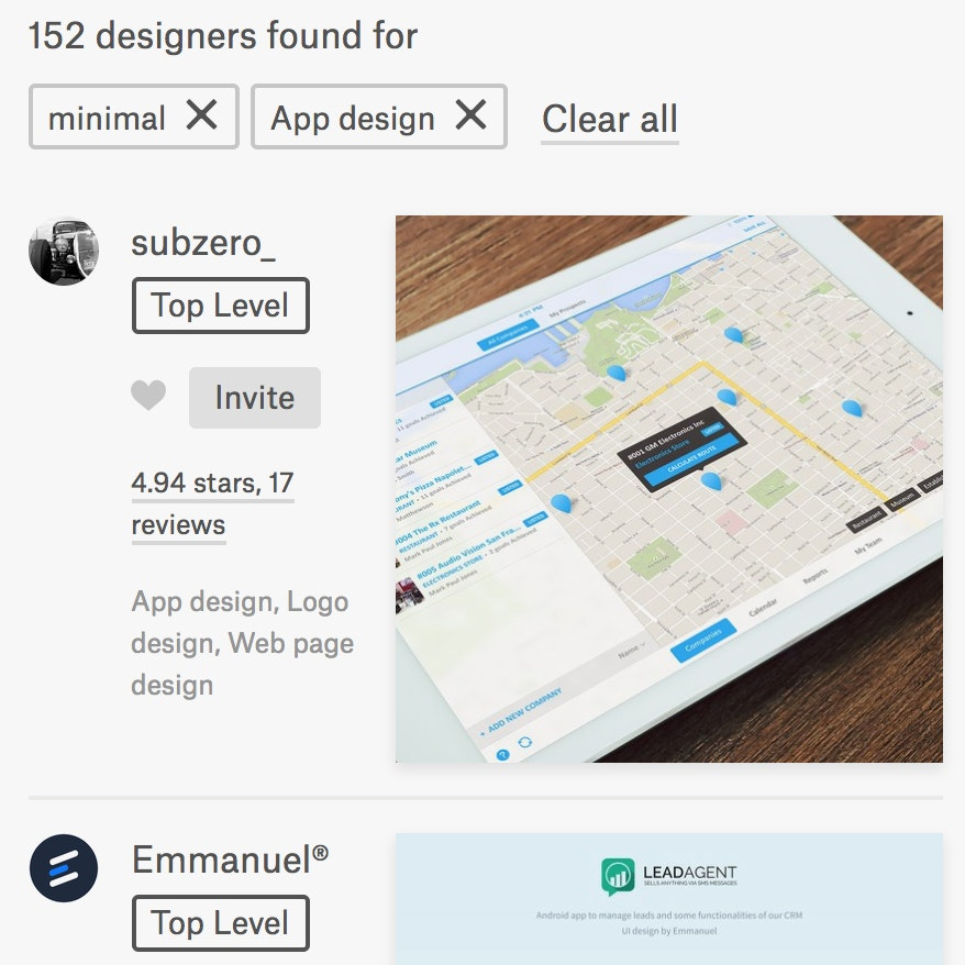 99designs designer search api